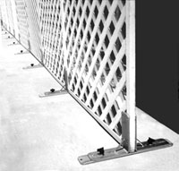 Used For Room Dividers Lattice Stands Scenery Panels Rugged Welded Steel Corrosion Resistant Zinc Plated Finish Easily Adjustable For Thickness
