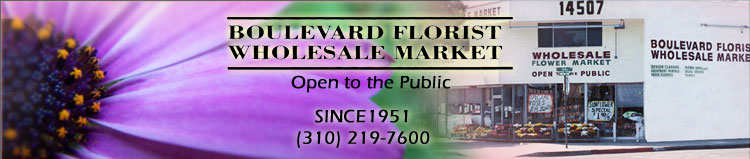 Boulevard Florist Wholesale Market, Open to the Public.  Since 1951.