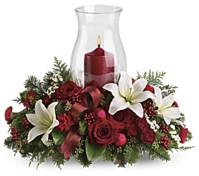 Christmas Centerpiece - Oval w/ Hurricane *Deluxe*