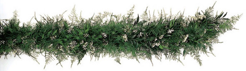 Garland Fresh Babies Breath, Springeri, Plumosa & Ruscus from Boulevard Florist Wholesale Market