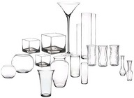Rental - Glassware from Boulevard Florist Wholesale Market