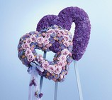 Blue and Lavender Double Heart from Boulevard Florist Wholesale Market