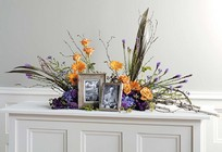 Birch Branch & Floral Memorial from Boulevard Florist Wholesale Market