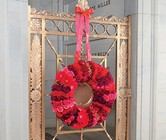 Red Pave Wreath from Boulevard Florist Wholesale Market