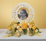 Daisy Wreath Photo Memorial from Boulevard Florist Wholesale Market
