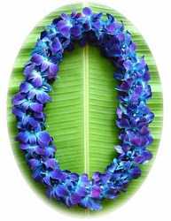 Lei - Dendrobium Orchid - Triple Bombay Dyed Blue from Boulevard Florist Wholesale Market