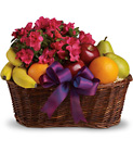 Fruits and Blooms Basket from Boulevard Florist Wholesale Market