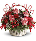 Candy Cane Christmas Basket from Boulevard Florist Wholesale Market