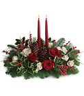 Christmas Wishes Centerpiece from Boulevard Florist Wholesale Market