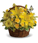 Basket Full of Wishes from Boulevard Florist Wholesale Market