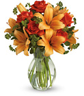 Fiery Lily and Rose from Boulevard Florist Wholesale Market