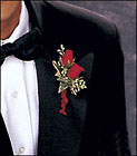Red-Hot Roses Boutonniere from Boulevard Florist Wholesale Market