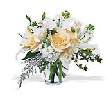 White Roses and Lilies from Boulevard Florist Wholesale Market
