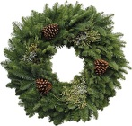 Mixed Evergreen Wreath - 34